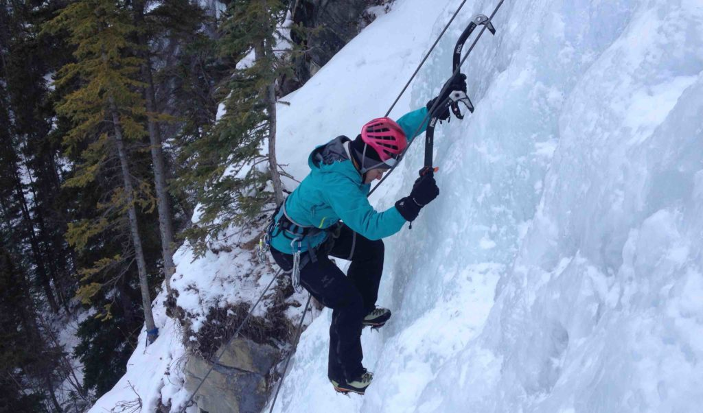 learn to lead ice, A frame, nofall program, ice climbing, grassi falls, peakstratagem, peakeats