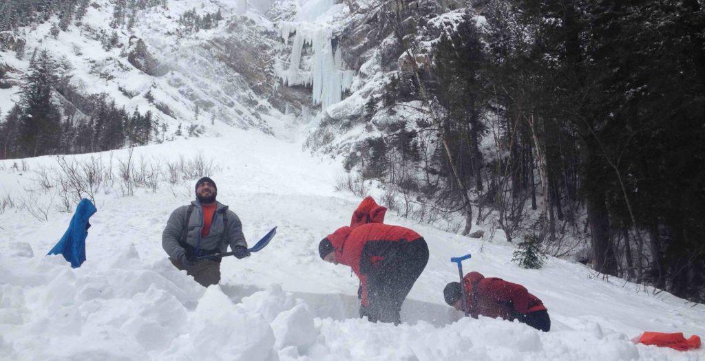 Pilsener Pillar, Mount Dennis, AST1, Avalanche Skills Training 1, Canadian Rockies, IceLines, PeakStratagem