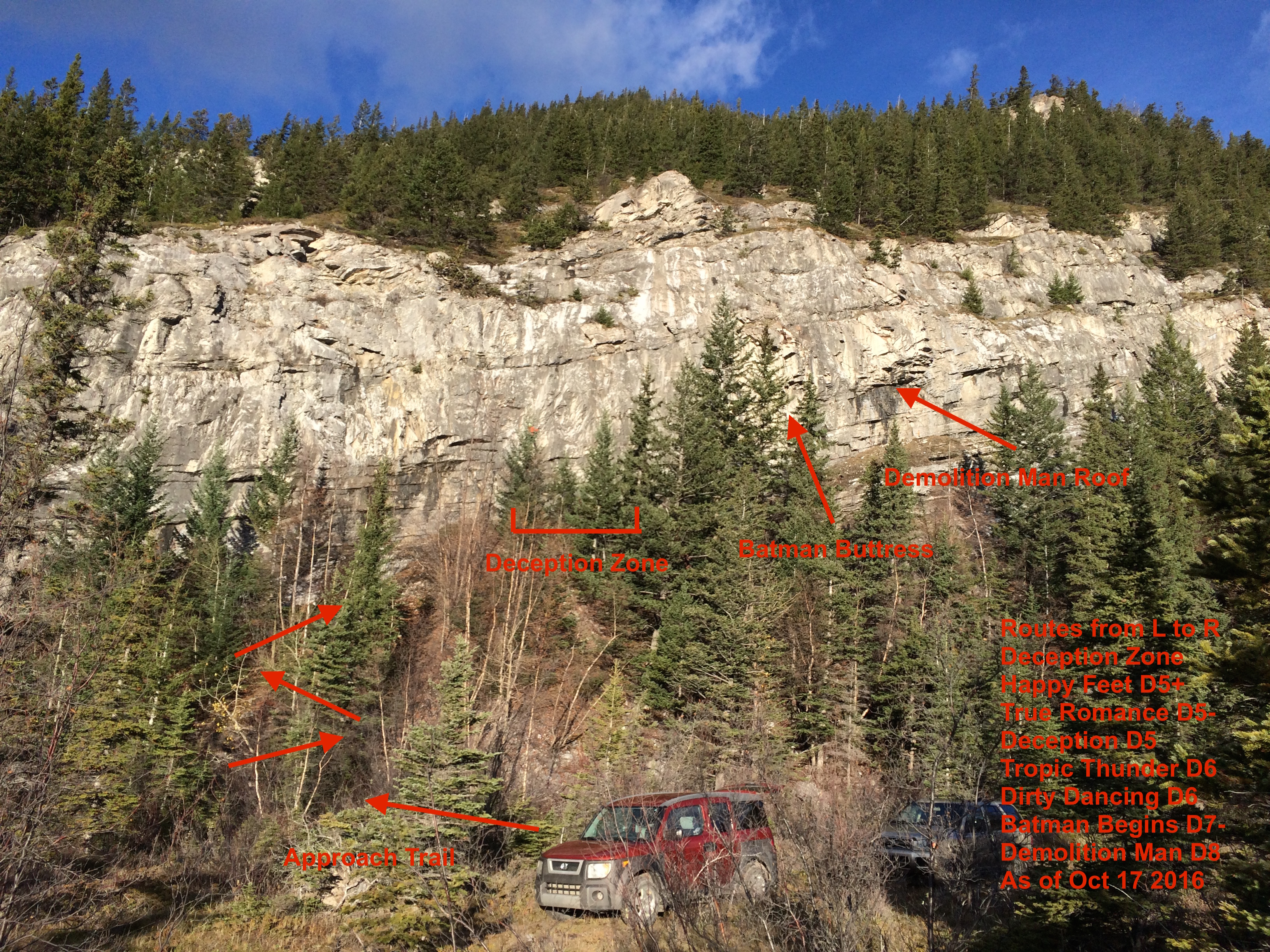 The Drive-In, drytooling, Exshaw, Bow Valley, Canmore, Banff, ice climbing, mixed climbing, Canadian Rockies, IceLines, PeakStratagem