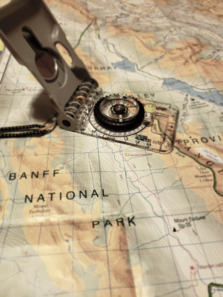 Navigation Course, Kananaskis, Rocky Mountains, National Parks, map, compass, don't get lost